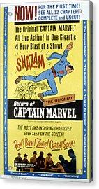 The Adventures Of Captain Marvel, Tom Acrylic Print by Everett