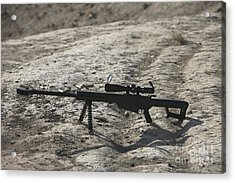 The Barrett M82a1 Sniper Rifle Acrylic Print by Terry Moore