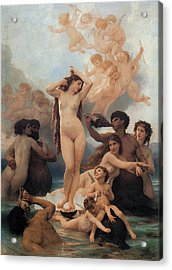 The Birth Of Venus Acrylic Print by William-Adolphe Bouguereau