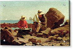 The Boat Builders Acrylic Print by Winslow Homer