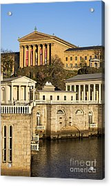 The Fairmount Water Works  Acrylic Print by John Greim