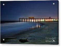 The Fishing Pier Acrylic Print by Paul Ward