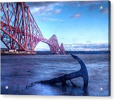 The Forth Rail Bridge Scotland Acrylic Print by Amanda Finan