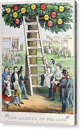 The Ladder Of Fortune Acrylic Print by Currier and Ives