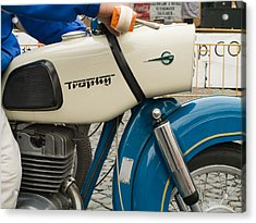 The Old Motorcycle Acrylic Print by Odon Czintos