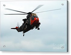 The Sea King Helicopter In Use Acrylic Print by Luc De Jaeger
