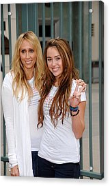 Tish Cyrus, Miley Cyrus In Attendance Acrylic Print by Everett