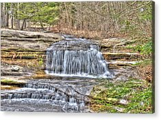 Top Of The Upper Falls Acrylic Print by Shirley Tinkham