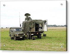Transmission Troops Of The Belgian Army Acrylic Print by Luc De Jaeger