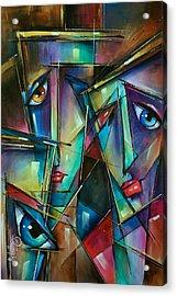 Trio Acrylic Print by Michael Lang