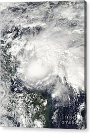 Tropical Storm Ida In The Caribbean Sea Acrylic Print by Stocktrek Images