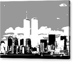 Twin Towers Bw3 Acrylic Print by Scott Kelley
