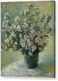 Vase Of Flowers  Acrylic Print by Claude Monet