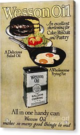 Vegetable Oil Ad, 1918 Acrylic Print by Granger