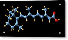 Vitamin A (retinoic Acid) Molecule Acrylic Print by Dr Mark J. Winter