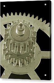Watch Gears, Sem Acrylic Print by Steve Gschmeissner