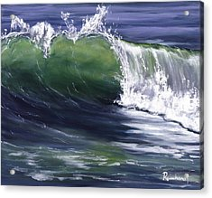Wave 8 Acrylic Print by Lisa Reinhardt
