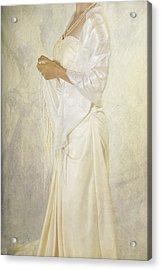 Wedding Dress Acrylic Print by Joana Kruse