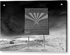 Welcome Sign Acrylic Print by David Lee Thompson