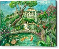 We're In Wonderland Acrylic Print by Lynn Maverick Denzer