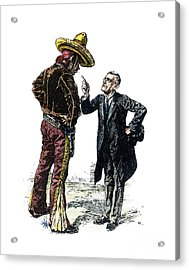 Wilson & Mexico, 1913 Acrylic Print by Granger
