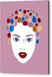 Woman In Fashion Acrylic Print by Frank Tschakert