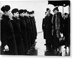 World War II. First Lady Eleanor Acrylic Print by Everett