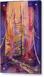 Yellowstone Fire Acrylic Print by Pati Pelz
