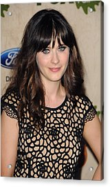 Zooey Deschanel At Arrivals For Fox Acrylic Print by Everett