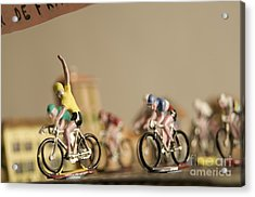 Cyclists Acrylic Print by Bernard Jaubert