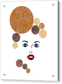 Illustration Of A Woman In Fashion Acrylic Print by Frank Tschakert