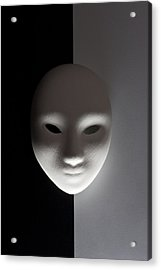 Plaster Mask In Studio Acrylic Print by Kantapong Phatichowwat