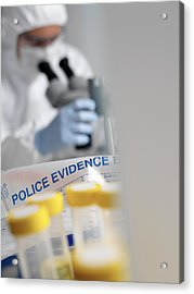 Forensic Evidence Acrylic Print by Tek Image