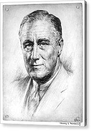Franklin Delano Roosevelt Acrylic Print by Granger