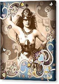 Goddess Acrylic Print by Chris Andruskiewicz