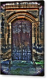 14th Century Door Acrylic Print by Yhun Suarez