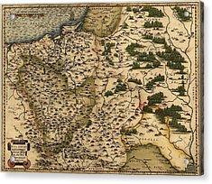 1570 Map Of  Poland. Polands Political Acrylic Print by Everett