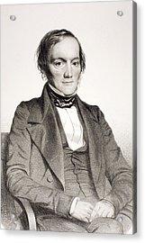 1850 Richard Owen Portrait Paleontologist Acrylic Print by Paul D Stewart