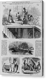 1869 Illustration Show Ex-slaves, Now Acrylic Print by Everett