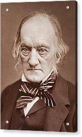 1878 Sir Richard Owen Photograph Portrait Acrylic Print by Paul D Stewart