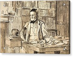 1883 Richard Owen's Study Ex Bmnh Acrylic Print by Paul D Stewart