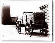 1900 Wagon Acrylic Print by Marcin and Dawid Witukiewicz