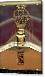 1910 Rolls-royce Silver Ghost Balloon Hood Ornament Acrylic Print by Jill Reger