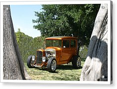 1929 Ford Butter Scorch Orange Acrylic Print by Jack Pumphrey