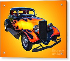 1934 Ford 3 Window Coupe Hotrod Acrylic Print by Jim Carrell