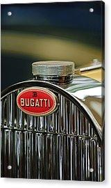 1935 Bugatti Type 57 Grand Raid Roadster Emblem Acrylic Print by Jill Reger