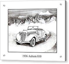 1936 Auburn 810 Acrylic Print by Jack Pumphrey