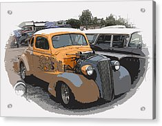 1937 Chevy Coupe Acrylic Print by Steve McKinzie