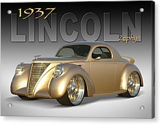 1937 Lincoln Zephyr Acrylic Print by Mike McGlothlen
