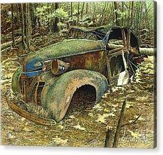 1939 Pontiac Acrylic Print by Robert Hinves